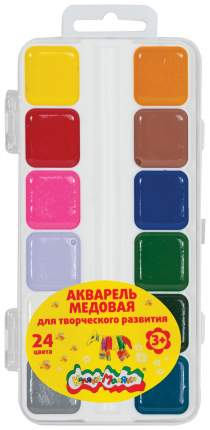 Акварель Каляка-Маляка Медовая 24 цвета