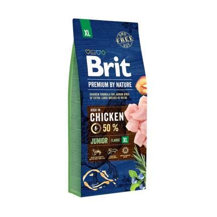 Сухой корм для щенков Brit Premium By Nature Junior XL, гигантских пород, курица, 15кг