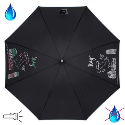 Зонт-трость механический Flioraj 300801 FJ черный