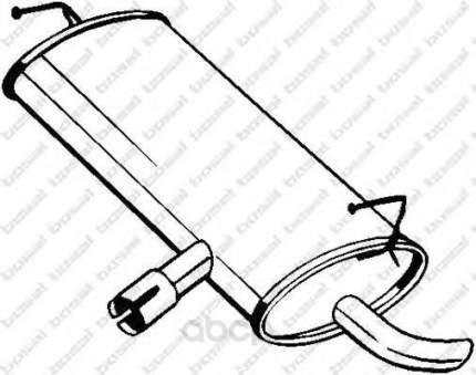 Глушитель выхлопной системы Nissan Qashqai 2.0 06 bosal 145203
