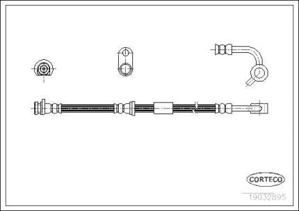 Шланг тормозной системы CORTECO 19032895