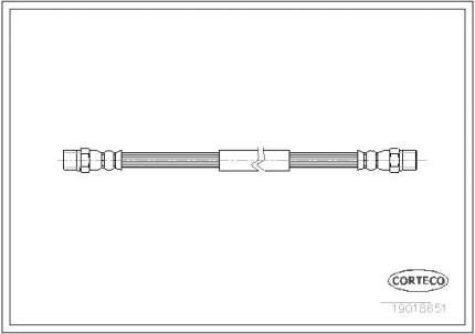 Шланг тормозной CORTECO 19018651