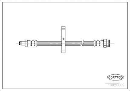 Шланг тормозной CORTECO 19026009