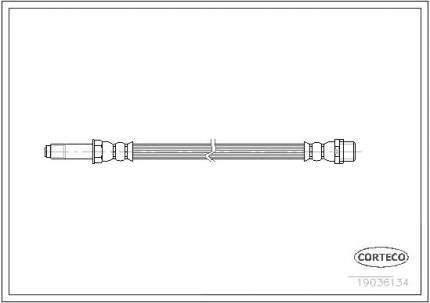 Шланг тормозной системы CORTECO 19036134