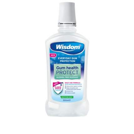 Ополаскиватель Wisdom Gum Health Prot с хлоргексидином, антибактериальная формула 500мл