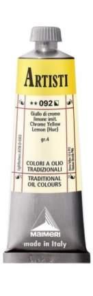 Масляная краска Maimeri Artisti 092 хром лимонный (имитация) 60 мл