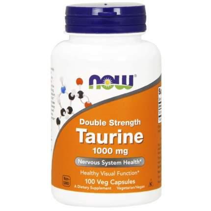 Таурин Now Taurine 1000 мг 100 капсул