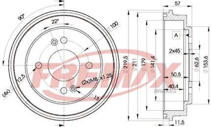 Тормозной барабан FREMAX BD-5841