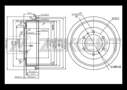 Тормозной барабан ZEKKERT BS-5530