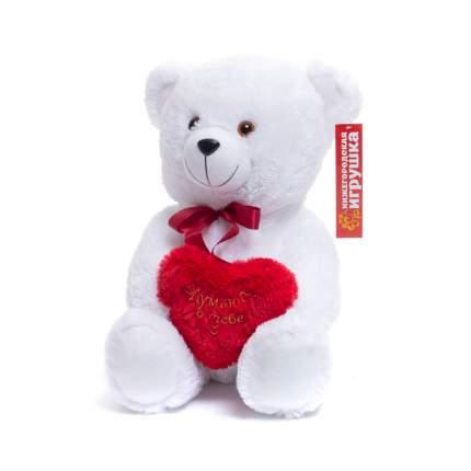 Мягкая игрушка Медведь новый с сердцем 45 см Нижегородская игрушка См-280-с-5