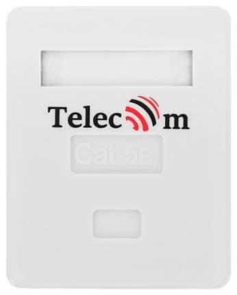 розетка сетевая Telecom, cat.5e, RJ45, UTP, 1 порт