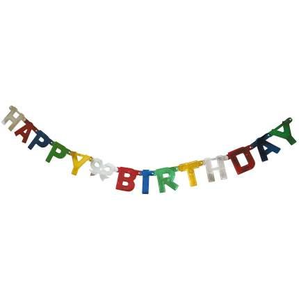 Гирлянда праздничная ACTION HAPPY BIRTHDAY 1,6 метра