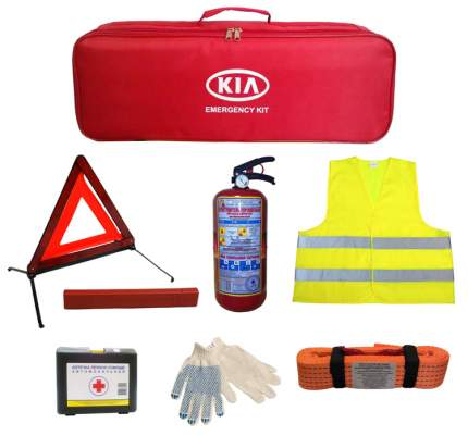 Набор дорожный Hyundai-Kia R970AC700KR с тросом сумка текстиль с логотипом Киа