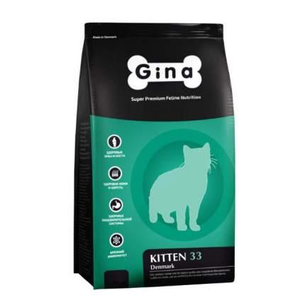 Сухой корм для котят GINA Kitten DENMARK, курица, 18кг