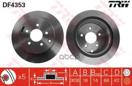 Тормозной диск TRW/Lucas DF4353 задний