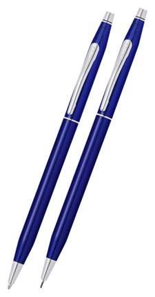 Набор подарочный Cross Classic Century Translucent Blue Lacquer шариковая ручка+карандаш