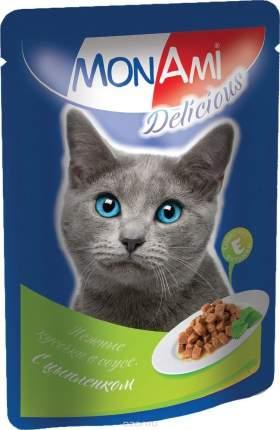 Влажный корм для кошек MonAmi Delicious, цыпленок в соусе, 85г