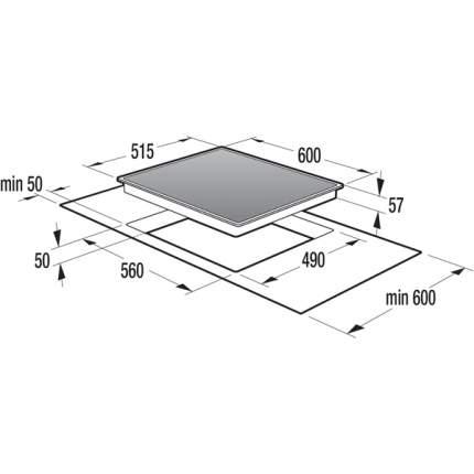 Встраиваемая варочная панель индукционная Gorenje IT614X Black