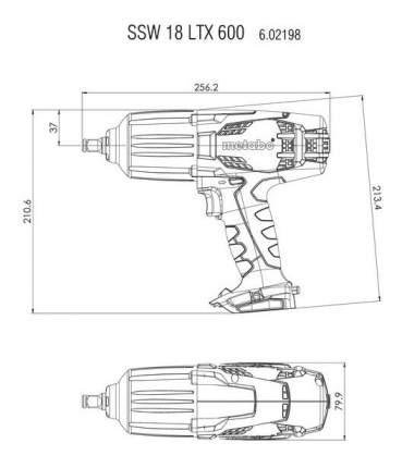 Аккумуляторный гайковерт Metabo SSW18LTX 602198500