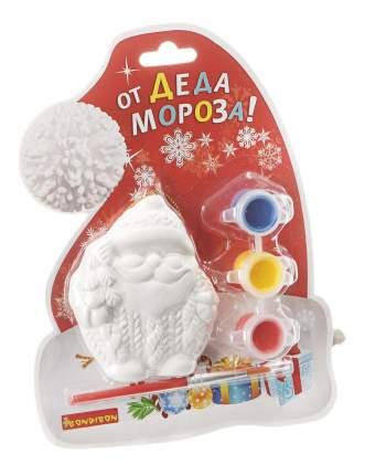 Набор для творчества Bondibon ёлочные украшения дед мороз на карте шапка д.мороза