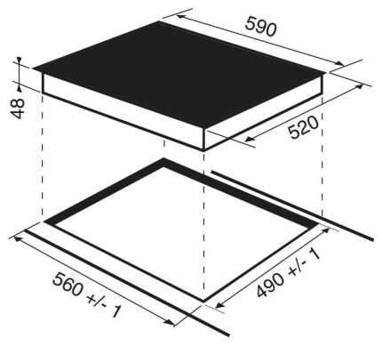 Встраиваемая варочная панель индукционная Hotpoint-Ariston KIO 642 DD Z Black