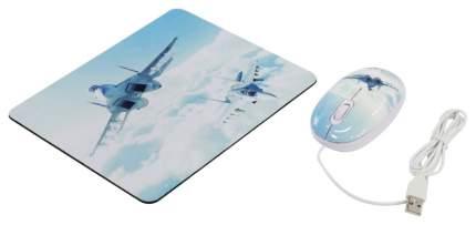 Проводная мышка CBR Aero Battle Cyan
