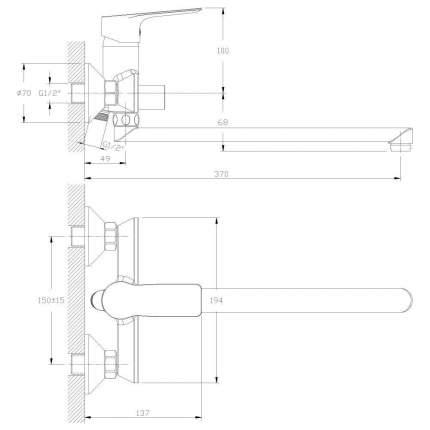 Смеситель универсальный Rossinka Silvermix RS27-33 хром