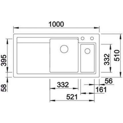 Мойка для кухни керамическая Blanco AXON II 6 S 516548 кашемир