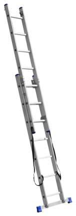 Лестница Зубр универсальная, двухсекционная со стабилизатором, 7 ступеней