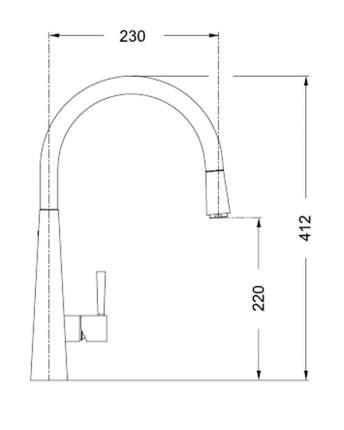 Смеситель для кухонной мойки Franke Just Light 115.0076.866 хром