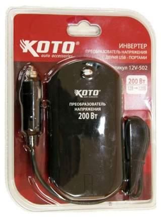 Автомобильный преобразователь напряжения KOTO 12В-220В 200Вт DSCRS07-BG