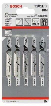 Набор пилок для лобзика Bosch T 101 ВIF, BIM 2608636431