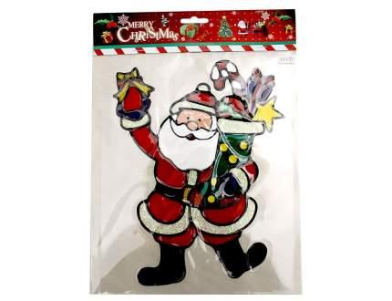 Наклейка на стекло Санта-Клаус с подарками 22*26 см ST1171