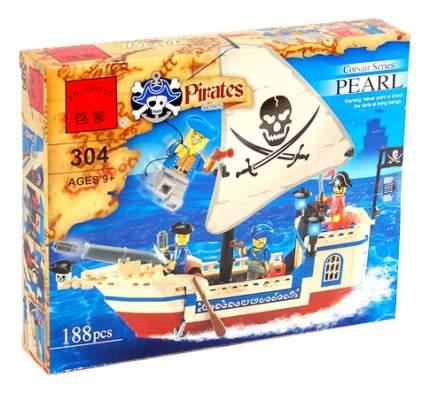 Конструктор пластиковый Enlighten Пиратский корабль