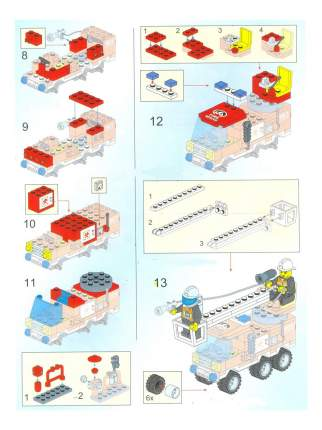 Конструктор пластиковый Brick Пожарная машина с подъемником