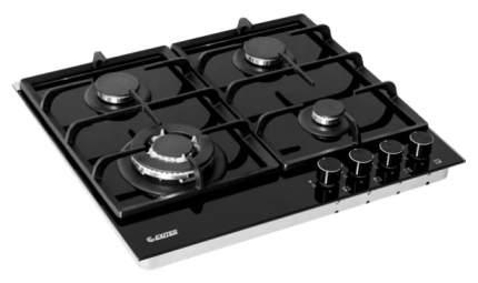 Встраиваемая варочная панель газовая Exiteq PFH 640 STGB-E/B Black
