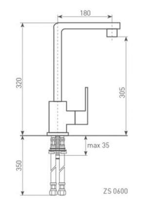 Смеситель для кухонной мойки Zigmund & Shtain ZS 0600 хром