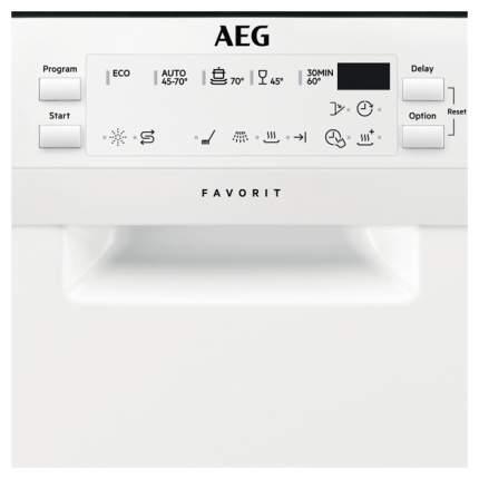 Посудомоечная машина 45 см AEG FFB95140ZW white