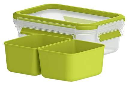Контейнер для хранения пищи EMSA Clip&Close 3100518102 Зеленый, прозрачный