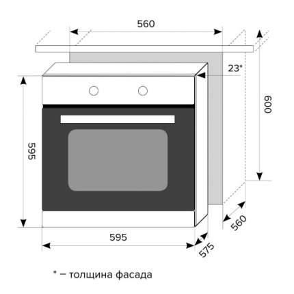Встраиваемый электрический духовой шкаф Lex EDM 6070 C IV Light
