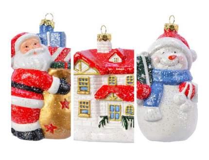 Набор елочных игрушек Kaemingk Дом подарков 027641-набор 12 см 3 шт.