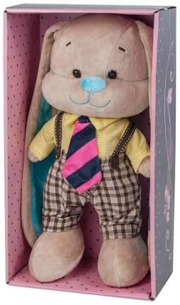 Мягкая игрушка животное Jack&Lin Зайчик в Желтой Рубашке и Полосатом Галстуке 25 см