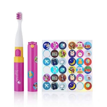 Детская электрическая зубная щетка Brush-baby Go-Kidz от 3-х лет розовая