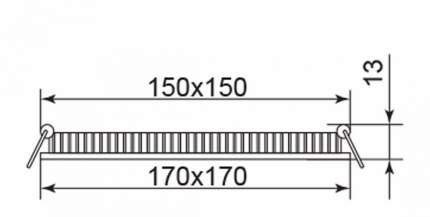 Встраиваемый светодиодный светильник Feron AL502 28516