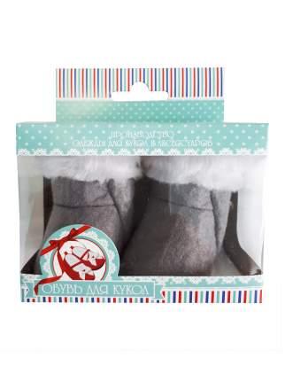 Валенки для куклы Колибри 10-01 серый
