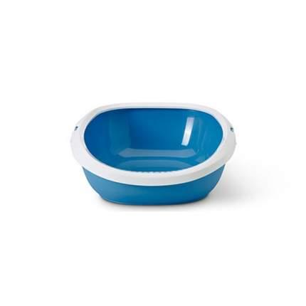 Лоток для кошек Savic Gizmo с высоким бортом, голубой, 44 х 35,5 х 12,5 см