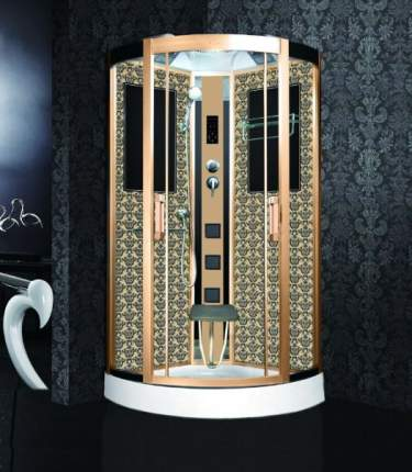 Душевая кабина Niagara Lux NG-7715G 90x90x215, золото с узором