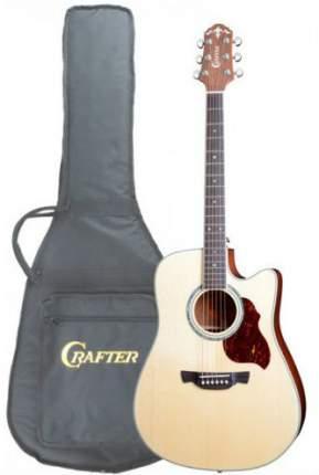 Электроакустическая гитара шестиструнная CRAFTER DE-8 N  Чехол