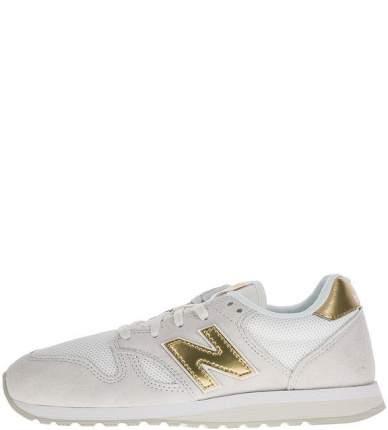 Женские кроссовки New Balance WL520GDA/B белые/серые/золотистые 37