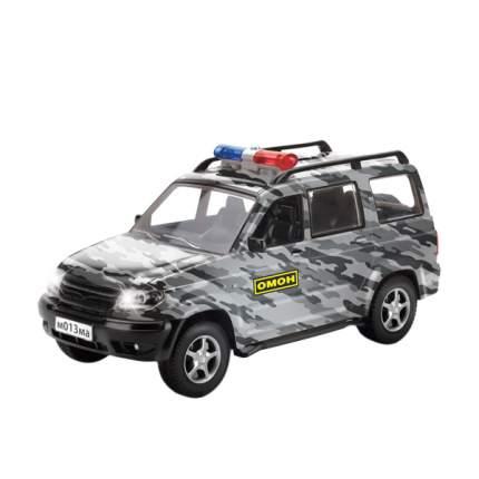 Машинка Технопарк инерционная УАЗ Патриот, со светом и звуком 21 см